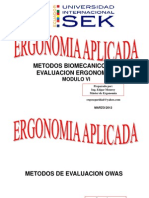 Sek Ergonomia Aplicada Owas-rula-reba Vi - 2012