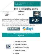 Common Pitfalls in Interpreting Quality Indexes