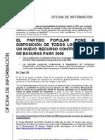 Nota Prensa PP Getafe, 04.09.06, PP pone a disposición vecinos recurso