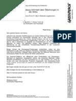 Ankündigung Und Einladung Vom 01.05.2014 Greenpeace Regensburg Informiert Über Ölbohrungen in Der Arktis