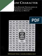 Muslim's Character- Ghazali