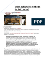 Is Reconciliation Achievable Without Separation in Sri Lanka