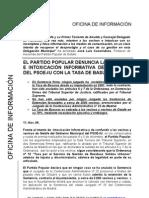 Nota Prensa PP Getafe, 11.11.06, PP Denuncia Las Mentiras de PSOE-IU