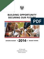 Ontario budget 2014