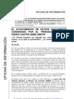 Nota de Prensa PP Getafe, 18.10.06, Condena Del Tribunal Supremo Al Ayuntamiento