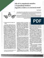 1992 El desarrollo de la competencia narrativa en el aprendizaje histórico _ Una hipótesis ontogenética relativa a la conciencia moral _ en Propuesta Educativa núm 7 FLACSO Buenos Aires.pdf