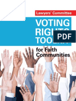 Lawyers' Committee Voting Rights Toolkit for Faith Communities