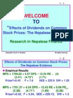 Seminar on Dividends