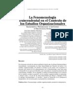 La Fenomenologia Trascendental en El Contexto de Los Estudios Organizacionales