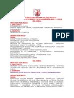 Programación de Actividades Patología