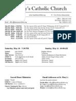 Bulletin for May 4, 2014