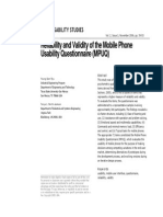 Ryu Smith-jackson Mobile Phone Questionnaire