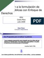 Pobreza Derechos Humanos y Políticas Públicas - Curso IIDH 2009