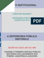 Direito Institucional Cristine Balbinot 2013