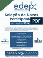 Cartaz Seleção NEDEP 2014.1