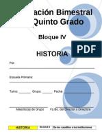 Plan - 5to Grado - Bloque IV - Historia