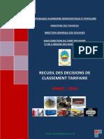 Recueil Classement Tarifaire 2010