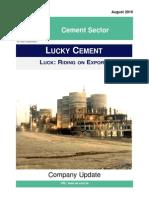 Lucky Cement Ltd. Detail Report WE Financial Services Ltd. August 2014