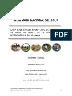 SNA, 2010. Monitoreo de La Calidad Del Agua