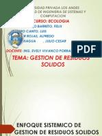 Enfoque Sistemico y Evaluacion RESIDUOS SOLIDOS