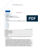 American Journal of Sociology - Genetical Ou Social