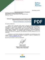 Informe de Extension y Conectividad de Los Reservorios Margarita - Huacaya