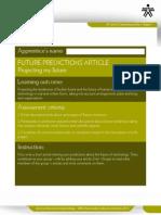 Future Predictions Article Checklist