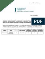 ACTUS 0 35396 2014.04.08 CieFF RACHAT Communique de Presse