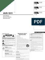 AVR1911 Manual