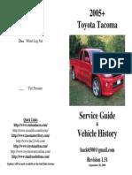 05 Tacoma Service History Guide v1.51