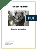 cholewick antonia australian animals