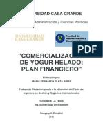 PLAZA Comercializacion de Yogur Helado Plan Financiero