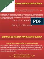 Clase Balances de Materia Con Reacción Química