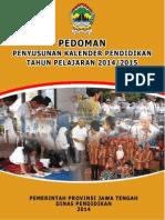 Pedoman Penyusunan Kalender Pendidikan Tahun Pelajaran 2014-2015