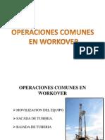 Operaciones de Workover