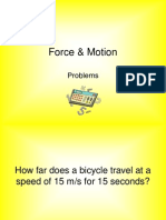 force   motion problems