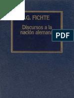Fichte - Discursos a La Nación Alemana - 1984