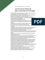 Incumbencias Titulo Lic. en Psicologia (Argentina)