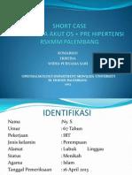 Short Case Glaukoma