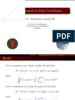 08 Double Integrals in Polar Coordinates - Handout