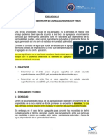 Informe 4 Densidad y Absorcion en Agregado Grueso, Fino