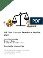 EDEL453 Spring2014 RebeccaWaltz Unit-plan Monday