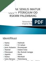 katarak imatur + pterigium