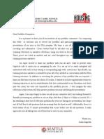 portfolio committee letter
