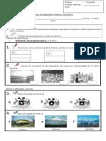 Prueba de Diagnóstico Historia y Geografía