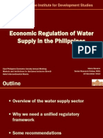 Econ Regulation Water PES 2013