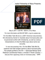 For the Bible Tells Me So Flyer