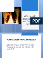 VPH de Alto Riesgo Positivo a Cáncer de Pulmón
