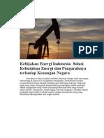 Kebijakan Energi Indonesia