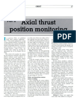Axial Thrust Position Monitoring